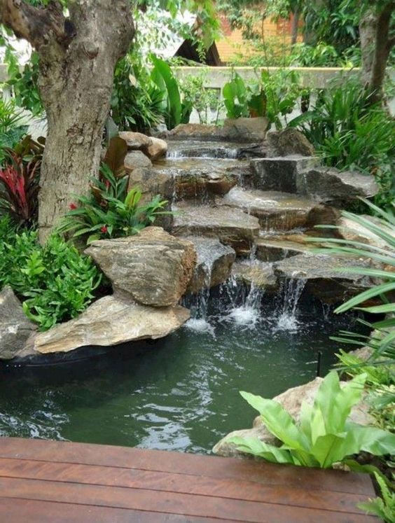 backyard waterfall ideas 11