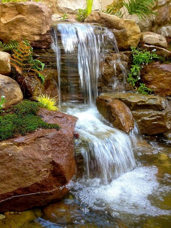 backyard waterfall ideas 12