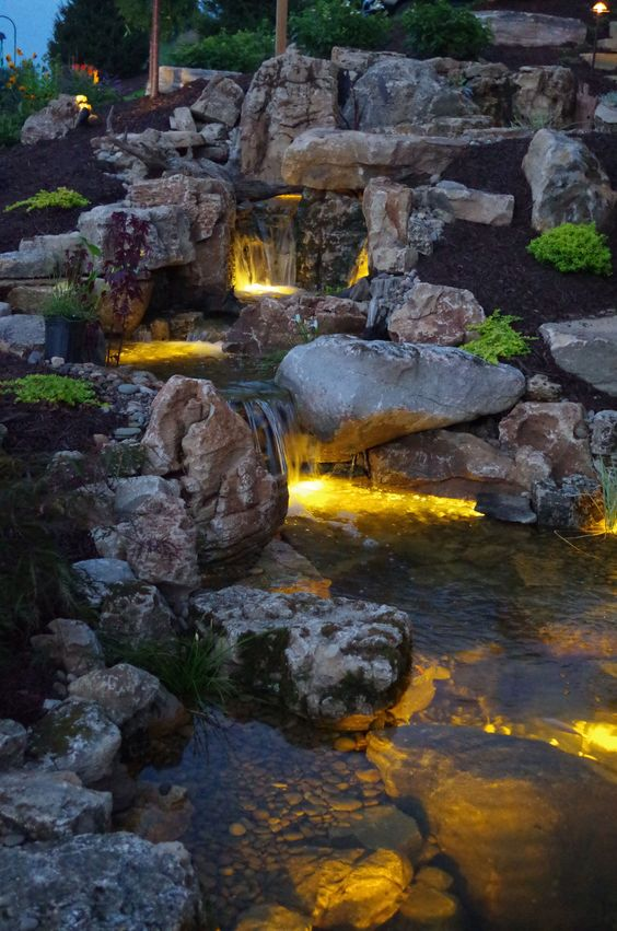 backyard waterfall ideas 13