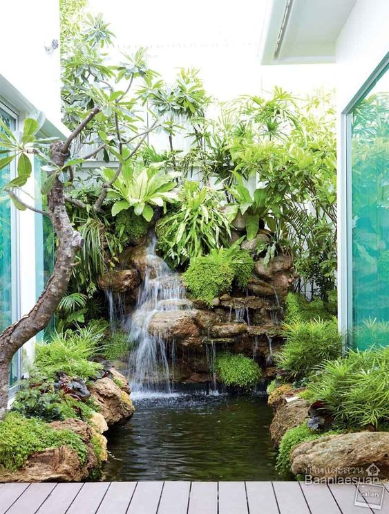 backyard waterfall ideas 14