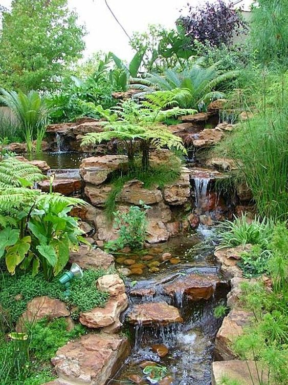 backyard waterfall ideas 15