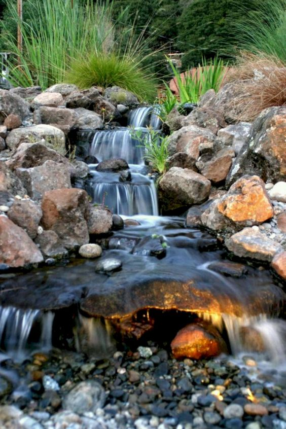 backyard waterfall ideas 16