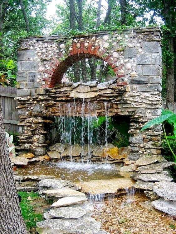 backyard waterfall ideas 17
