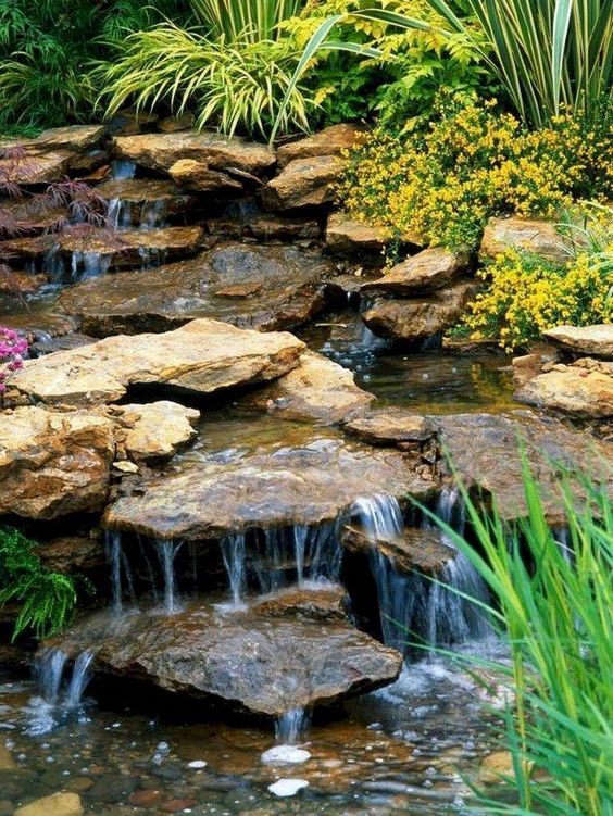 backyard waterfall ideas 18