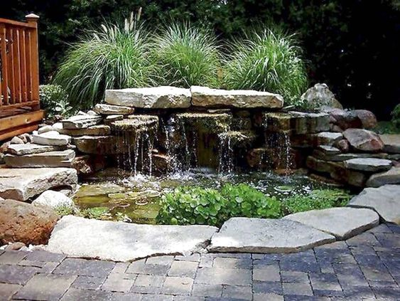 backyard waterfall ideas 19