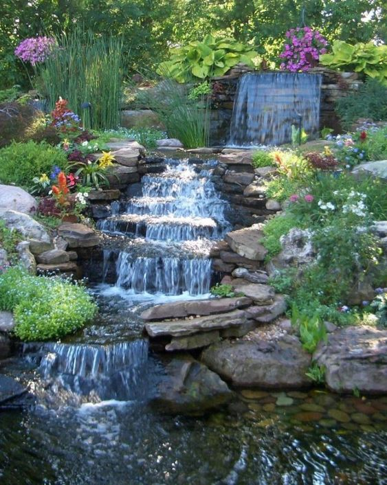 backyard waterfall ideas 4