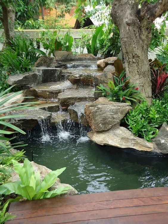 backyard waterfall ideas 7