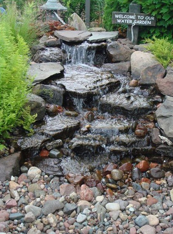 backyard waterfall ideas 8