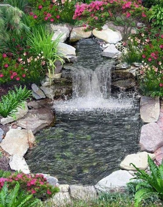 backyard waterfall ideas 9
