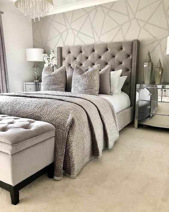 create different ambiance with these bedroom wallpaper