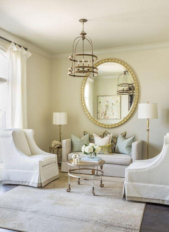 Formal Living Room Ideas: Classy Golden Room