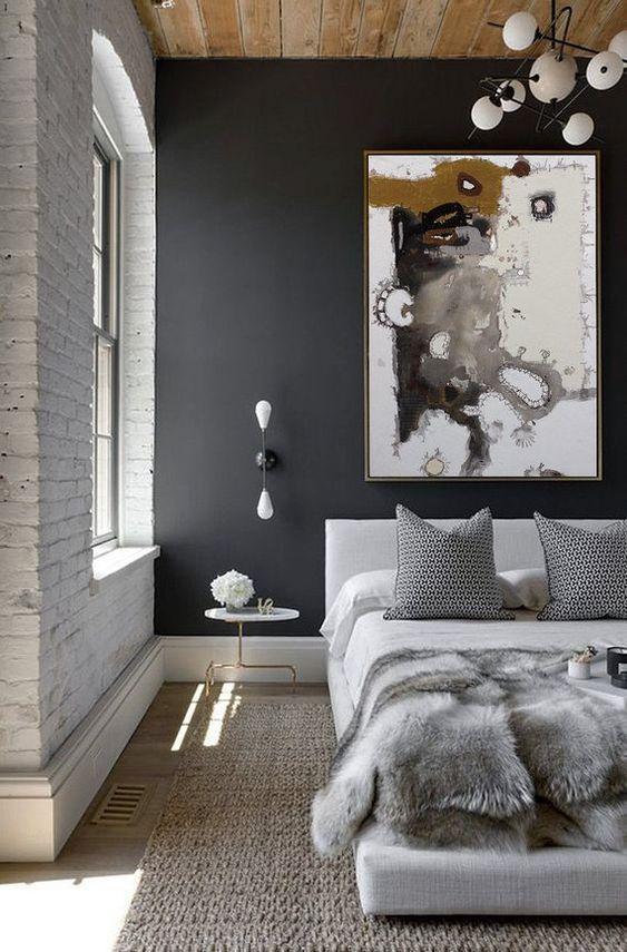 Grey Bedroom Ideas: Soften with Wood