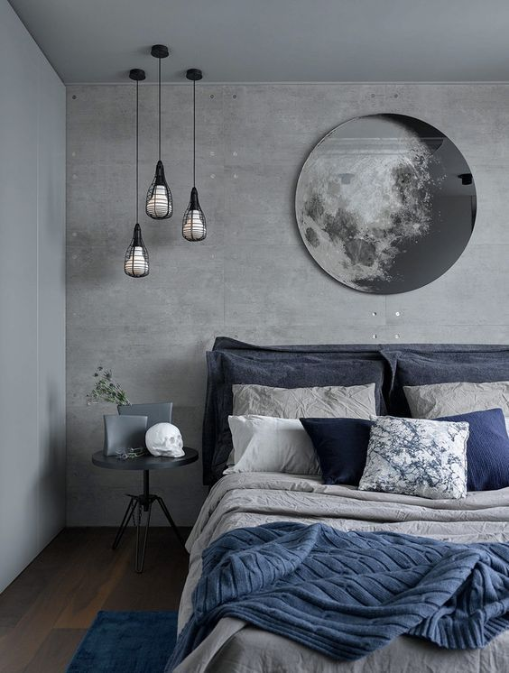 Grey Bedroom Ideas: Bold and Solid Concrete