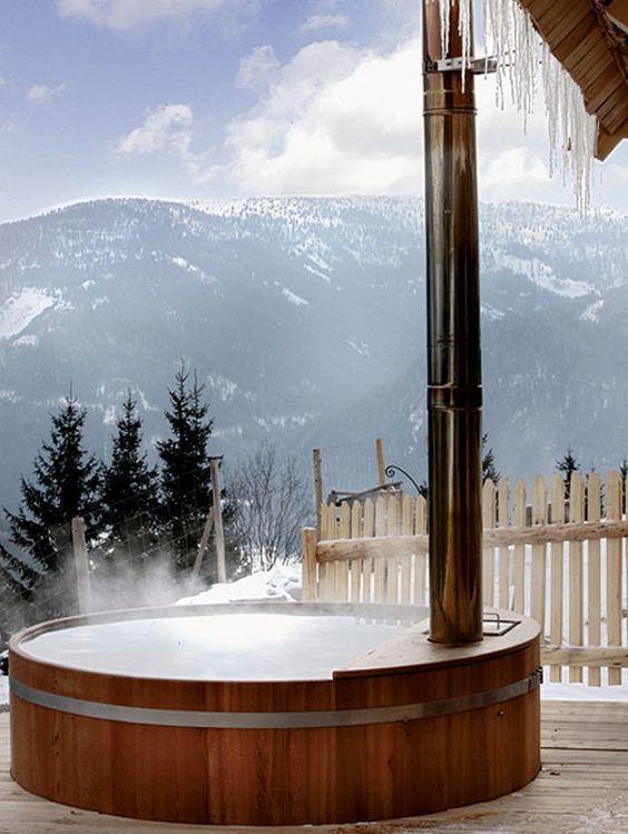 Hot Tub Outdoor: Wooden Hot Tub