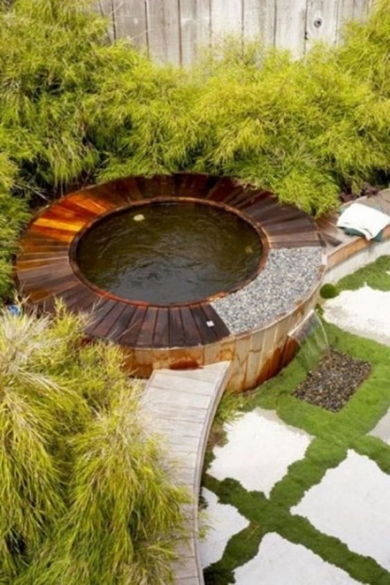 Hot Tub Outdoor: Simple Hot Tub Garden