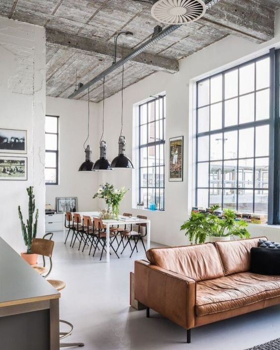 Industrial Living Room Ideas: Unfinished Look