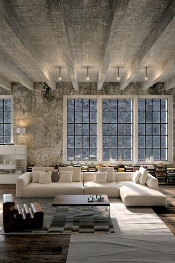 Industrial Living Room Ideas: Jaw-dropping Concrete