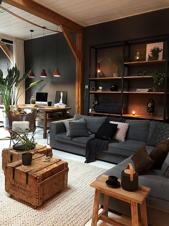 Industrial Living Room Ideas: Manly and Solid Vibe
