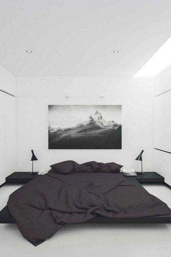Minimalist Bedroom Ideas: Sleek Monochromatic