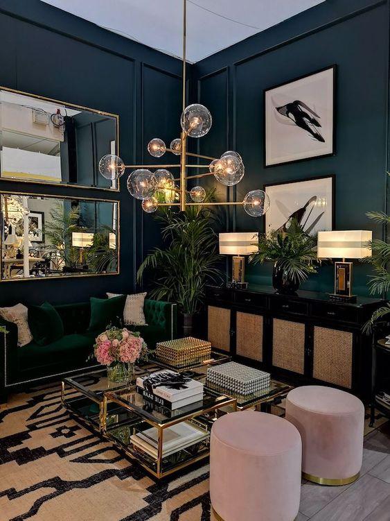 navy living room ideas 11