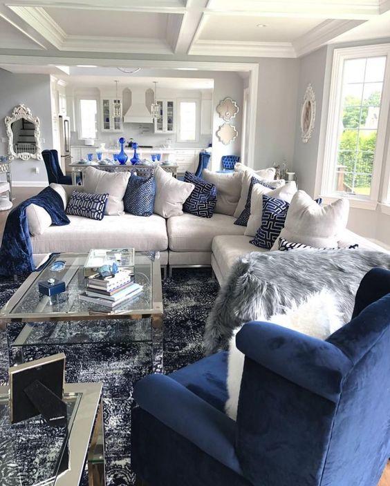 navy living room ideas 12