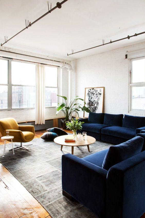 navy living room ideas 14