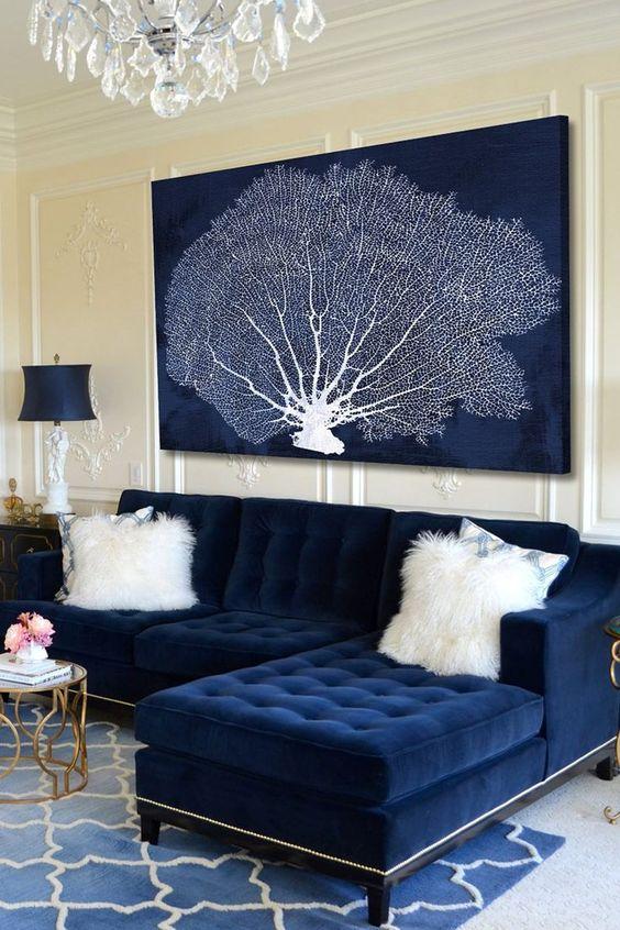 navy living room ideas 16