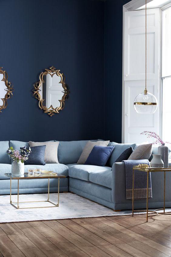 Navy Living Room Ideas: Elegantly Bold