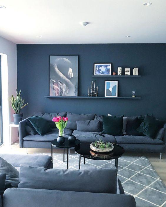 Navy Living Room Ideas: Breathtakingly Strong