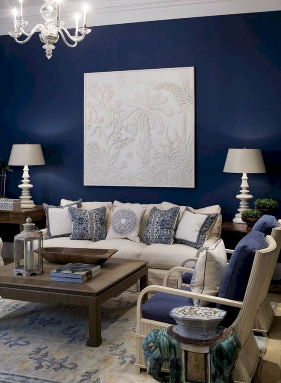 alluring navy living room ideas that will stun you