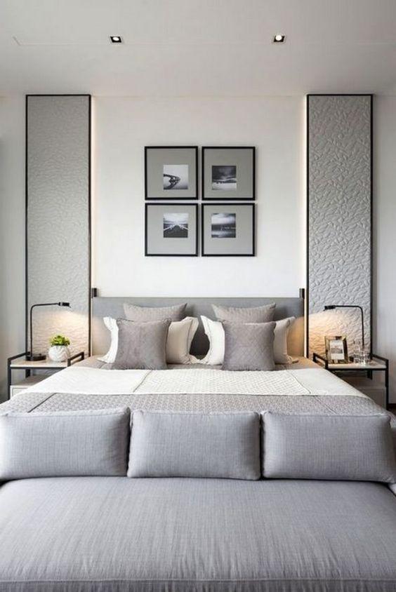 Scandinavian Bedroom Ideas: Elegant Light Gray