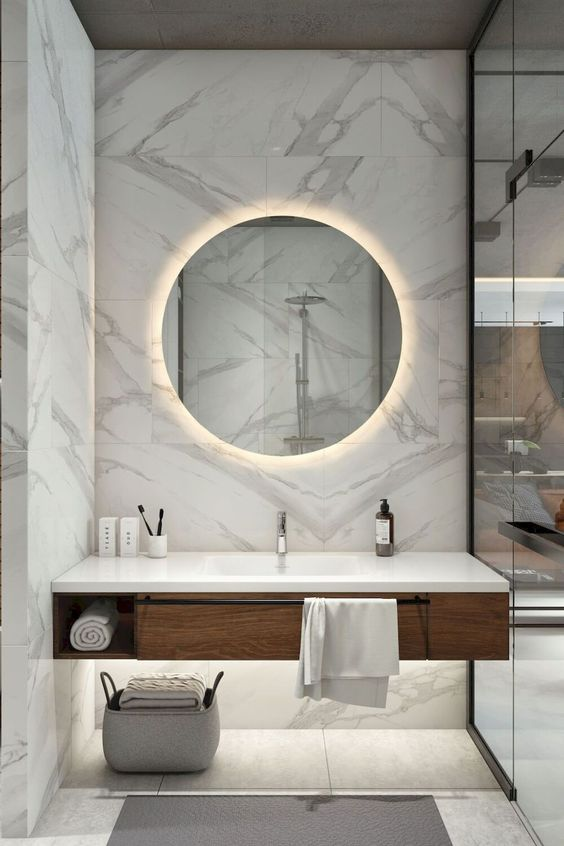 Bathroom Marble Ideas: Exhilarating Marble Spot