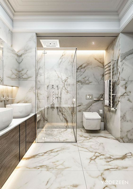 Bathroom Marble Ideas: Captivating Brown Marble