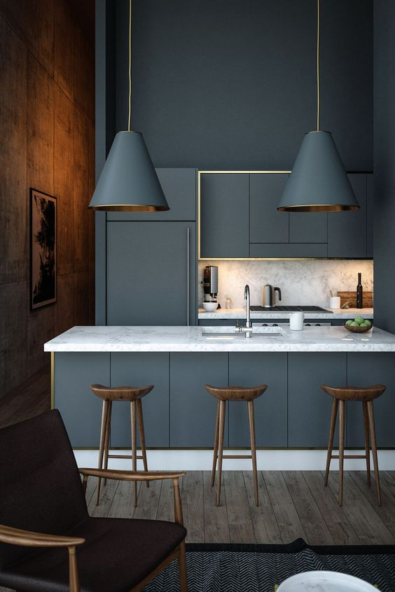 Dark Kitchen Ideas: Bold Dark Gray