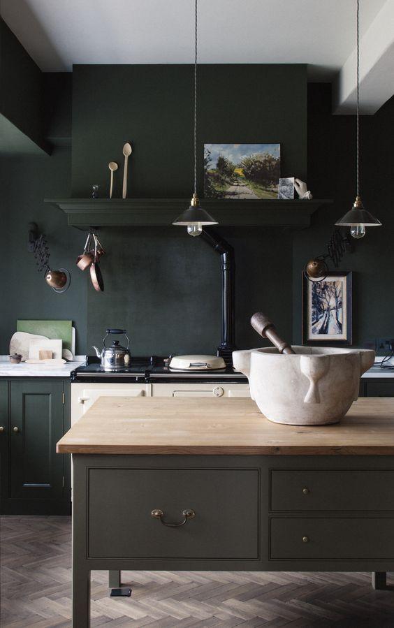 dark kitchen ideas 17