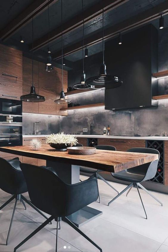 dark kitchen ideas 7