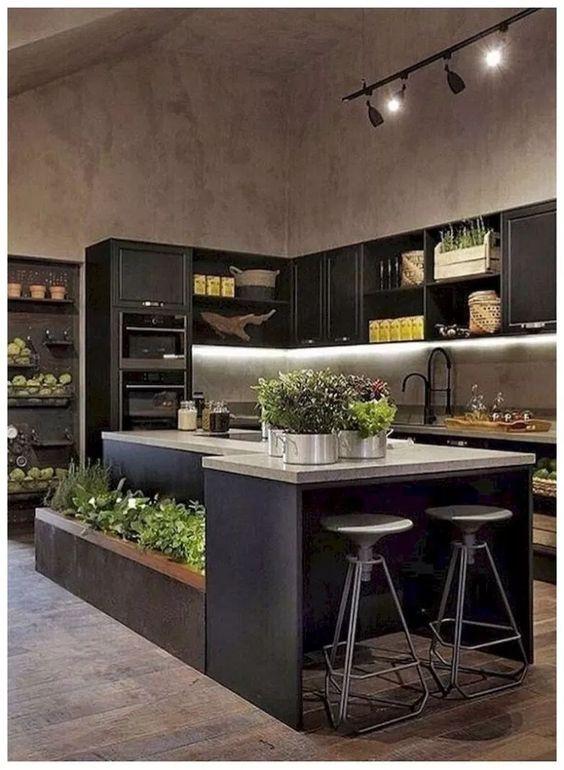 dark kitchen ideas 8