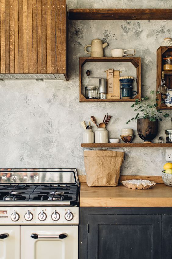 Kitchen Shelves Ideas: Go with Rustic