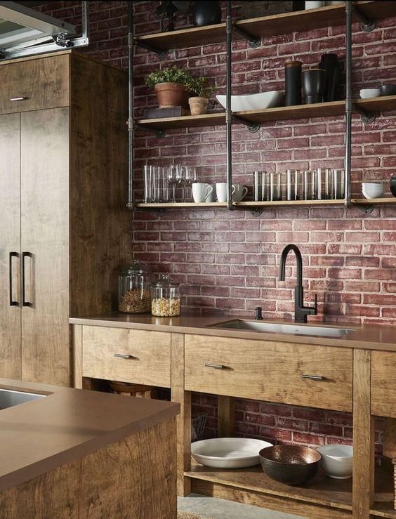 Kitchen Shelves Ideas: Industrial Shelves