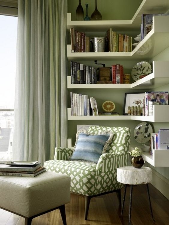 living room shelves ideas 13