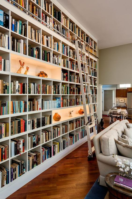 Living Room Shelves Ideas: Stunning Bookshelves Background
