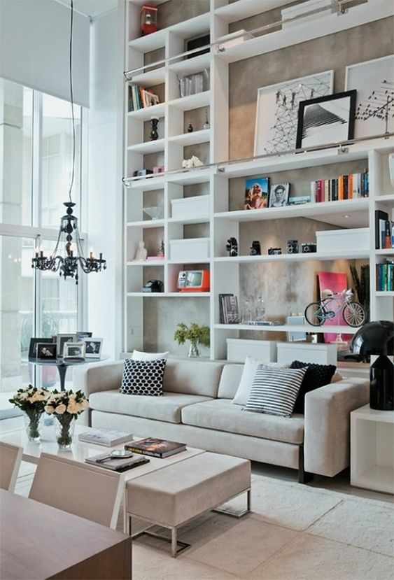 living room shelves ideas 5