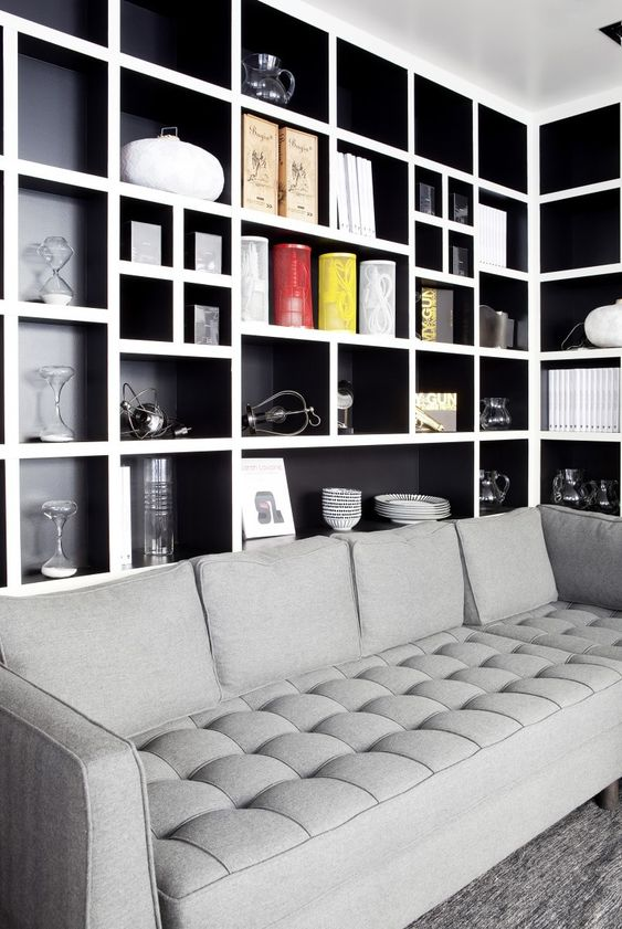 living room shelves ideas 8