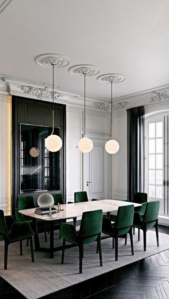 Modern Dining Room Ideas: Elegant Velvety Room