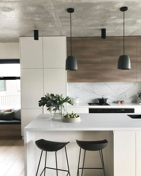 Modern Kitchen Ideas: Sleek and Earthy