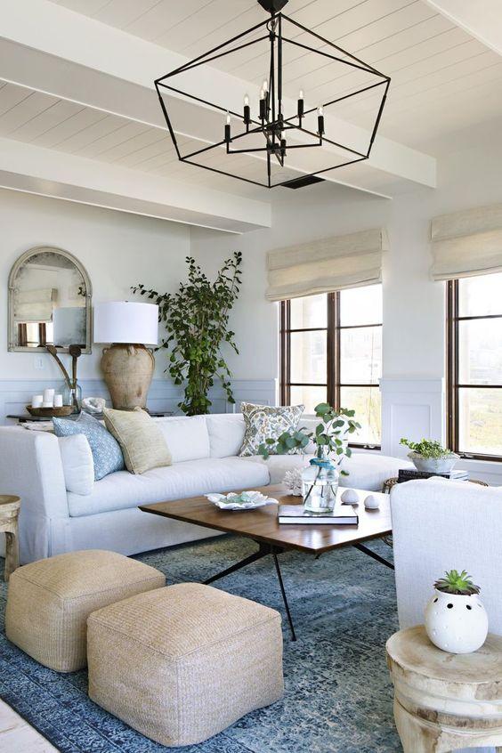 Neutral Living Room Ideas: Earthy Farmhouse Space