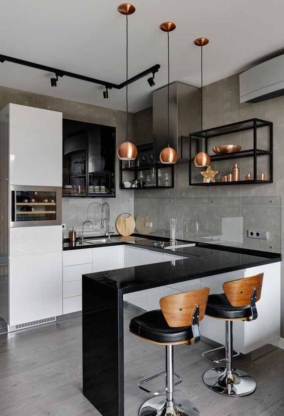 Small Kitchen Ideas: Classy Rose Gold