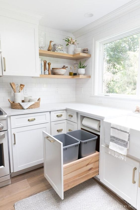 Small Kitchen Ideas: Airy All-White