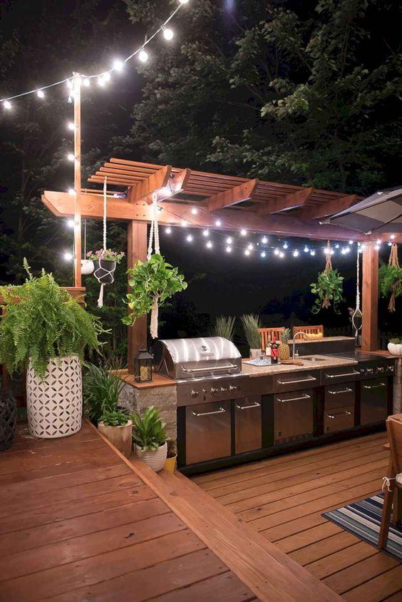Outdoor Kitchen Ideas: Light It Up