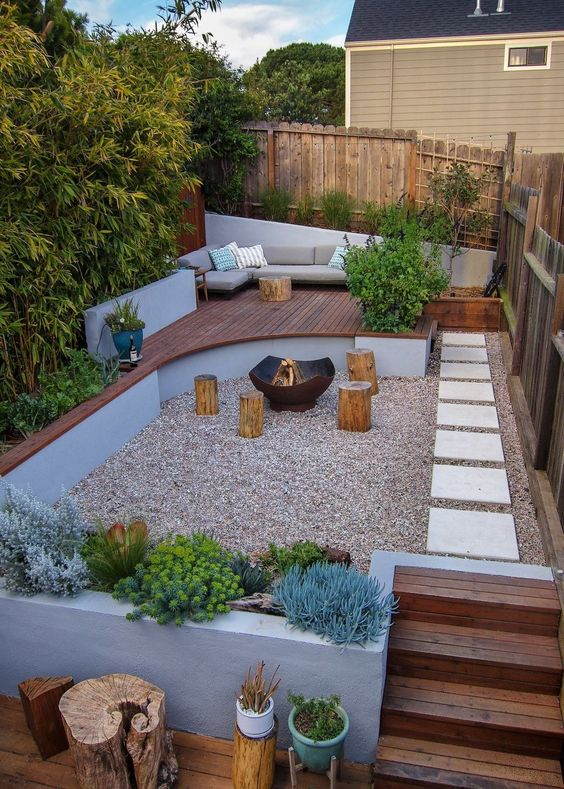 Backyard Inspiration Ideas: Sunken Gravel Pool
